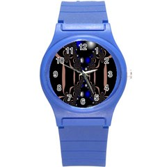 An Interesting Mix Of Blue And Other Colours Balls Round Plastic Sport Watch (S)