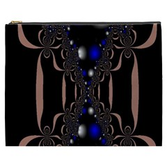 An Interesting Mix Of Blue And Other Colours Balls Cosmetic Bag (xxxl)