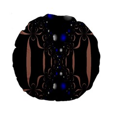 An Interesting Mix Of Blue And Other Colours Balls Standard 15  Premium Round Cushions