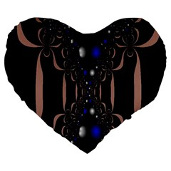 An Interesting Mix Of Blue And Other Colours Balls Large 19  Premium Heart Shape Cushions