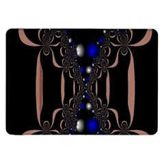 An Interesting Mix Of Blue And Other Colours Balls Samsung Galaxy Tab 8 9  P7300 Flip Case