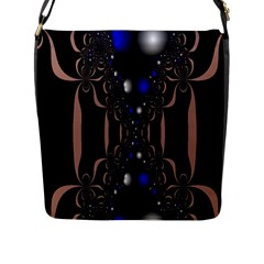 An Interesting Mix Of Blue And Other Colours Balls Flap Messenger Bag (l)