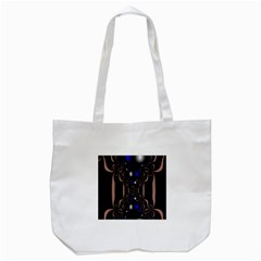 An Interesting Mix Of Blue And Other Colours Balls Tote Bag (white)