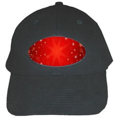 Red Holiday Background Red Abstract With Star Black Cap