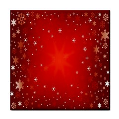 Red Holiday Background Red Abstract With Star Tile Coasters