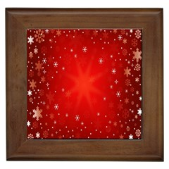 Red Holiday Background Red Abstract With Star Framed Tiles