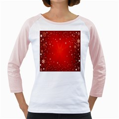 Red Holiday Background Red Abstract With Star Girly Raglans