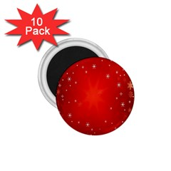 Red Holiday Background Red Abstract With Star 1.75  Magnets (10 pack)