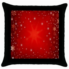 Red Holiday Background Red Abstract With Star Throw Pillow Case (black)