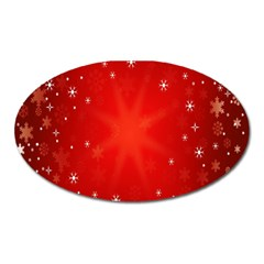 Red Holiday Background Red Abstract With Star Oval Magnet