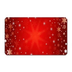 Red Holiday Background Red Abstract With Star Magnet (Rectangular)