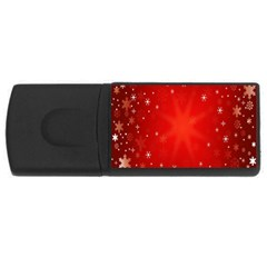 Red Holiday Background Red Abstract With Star USB Flash Drive Rectangular (2 GB)
