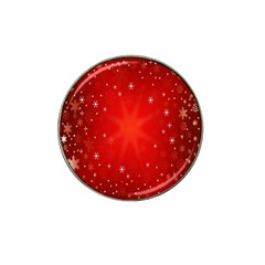 Red Holiday Background Red Abstract With Star Hat Clip Ball Marker (10 Pack)