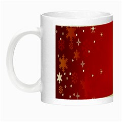 Red Holiday Background Red Abstract With Star Night Luminous Mugs