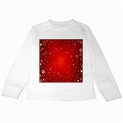 Red Holiday Background Red Abstract With Star Kids Long Sleeve T Shirts