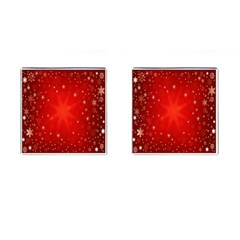 Red Holiday Background Red Abstract With Star Cufflinks (square)