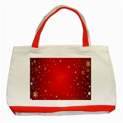 Red Holiday Background Red Abstract With Star Classic Tote Bag (red)