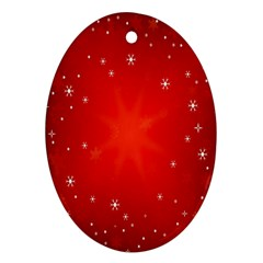 Red Holiday Background Red Abstract With Star Oval Ornament (Two Sides)