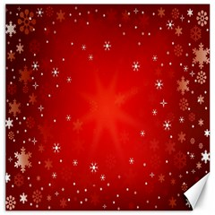 Red Holiday Background Red Abstract With Star Canvas 12  x 12