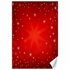 Red Holiday Background Red Abstract With Star Canvas 12  x 18