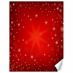 Red Holiday Background Red Abstract With Star Canvas 18  x 24
