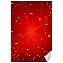 Red Holiday Background Red Abstract With Star Canvas 24  x 36