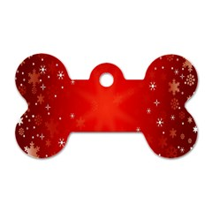 Red Holiday Background Red Abstract With Star Dog Tag Bone (two Sides)