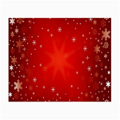 Red Holiday Background Red Abstract With Star Small Glasses Cloth (2-Side)