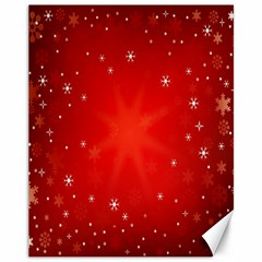 Red Holiday Background Red Abstract With Star Canvas 11  x 14
