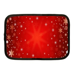 Red Holiday Background Red Abstract With Star Netbook Case (medium)
