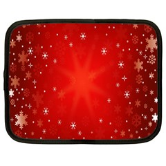 Red Holiday Background Red Abstract With Star Netbook Case (Large)