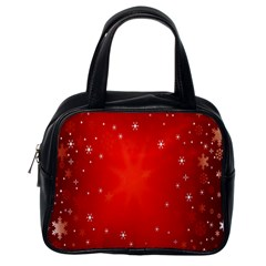 Red Holiday Background Red Abstract With Star Classic Handbags (one Side)