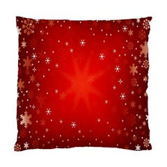 Red Holiday Background Red Abstract With Star Standard Cushion Case (one Side)