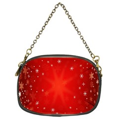 Red Holiday Background Red Abstract With Star Chain Purses (Two Sides)