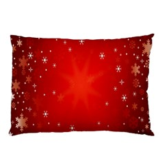 Red Holiday Background Red Abstract With Star Pillow Case
