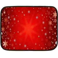 Red Holiday Background Red Abstract With Star Double Sided Fleece Blanket (Mini)