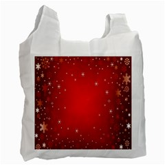 Red Holiday Background Red Abstract With Star Recycle Bag (Two Side)