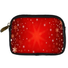 Red Holiday Background Red Abstract With Star Digital Camera Cases