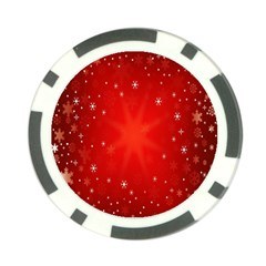 Red Holiday Background Red Abstract With Star Poker Chip Card Guard (10 pack)