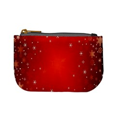 Red Holiday Background Red Abstract With Star Mini Coin Purses