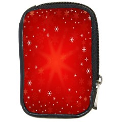 Red Holiday Background Red Abstract With Star Compact Camera Cases