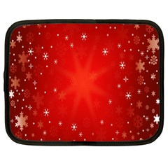 Red Holiday Background Red Abstract With Star Netbook Case (XL)