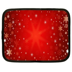 Red Holiday Background Red Abstract With Star Netbook Case (XXL)