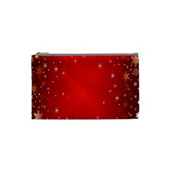 Red Holiday Background Red Abstract With Star Cosmetic Bag (small)