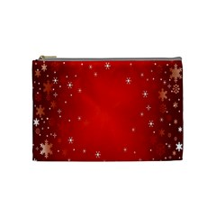 Red Holiday Background Red Abstract With Star Cosmetic Bag (Medium)