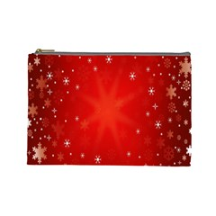 Red Holiday Background Red Abstract With Star Cosmetic Bag (Large)