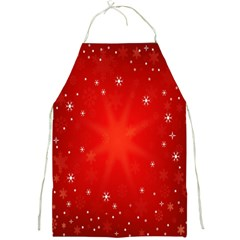 Red Holiday Background Red Abstract With Star Full Print Aprons