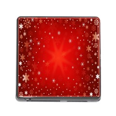 Red Holiday Background Red Abstract With Star Memory Card Reader (Square)