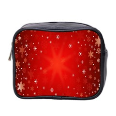Red Holiday Background Red Abstract With Star Mini Toiletries Bag 2-Side