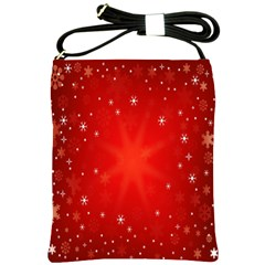 Red Holiday Background Red Abstract With Star Shoulder Sling Bags